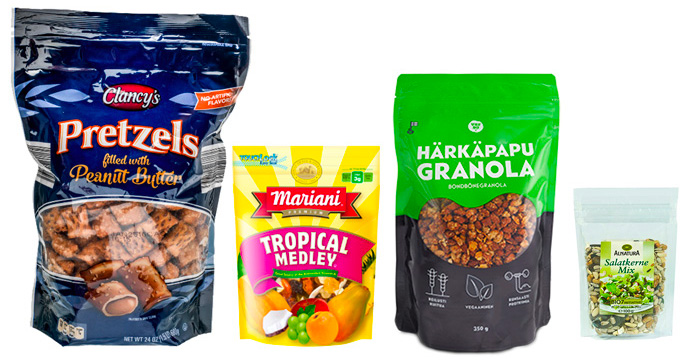 Cereales, snacks y frutos secos y nueces